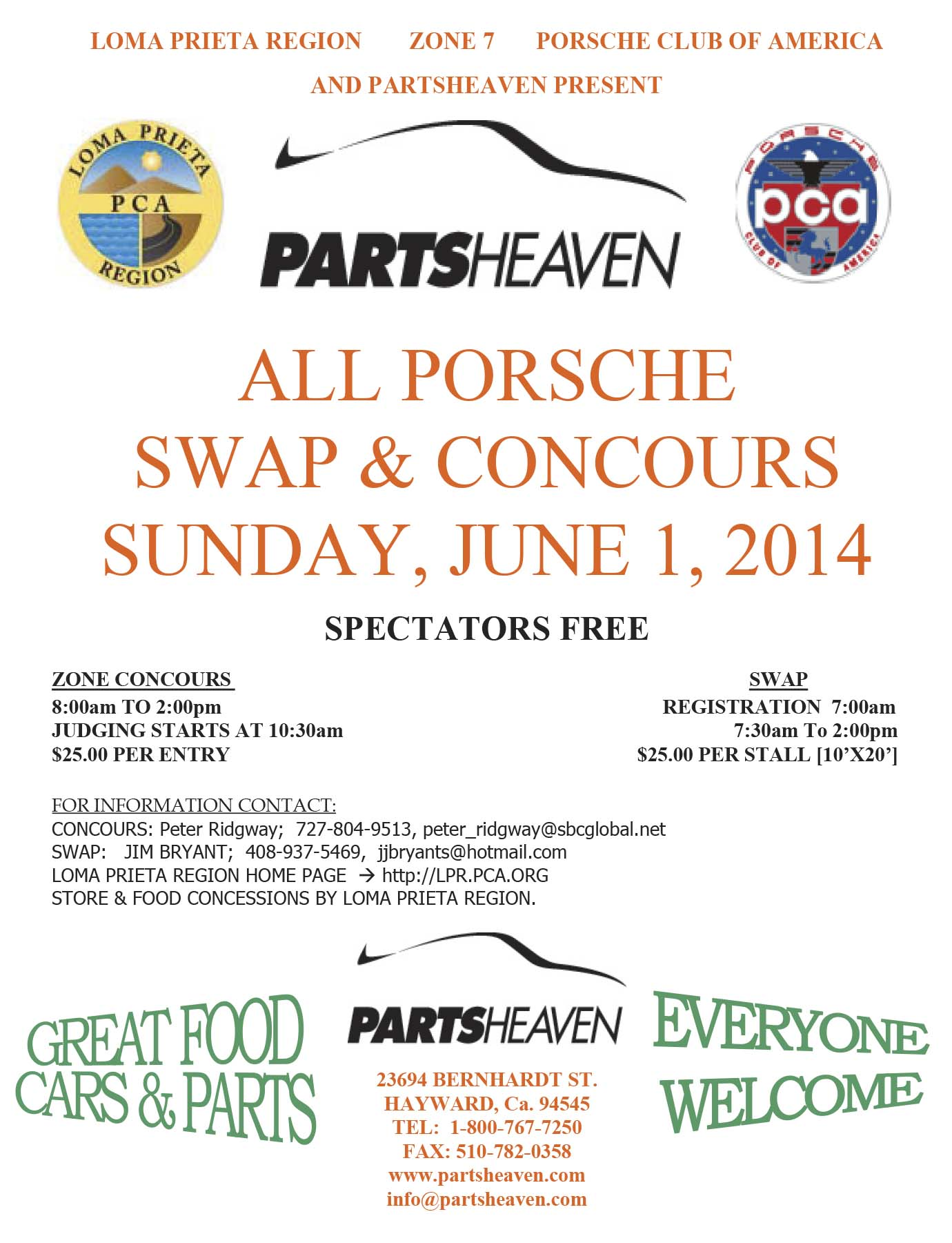 LPR Zone 7 Concours and Swapmeet