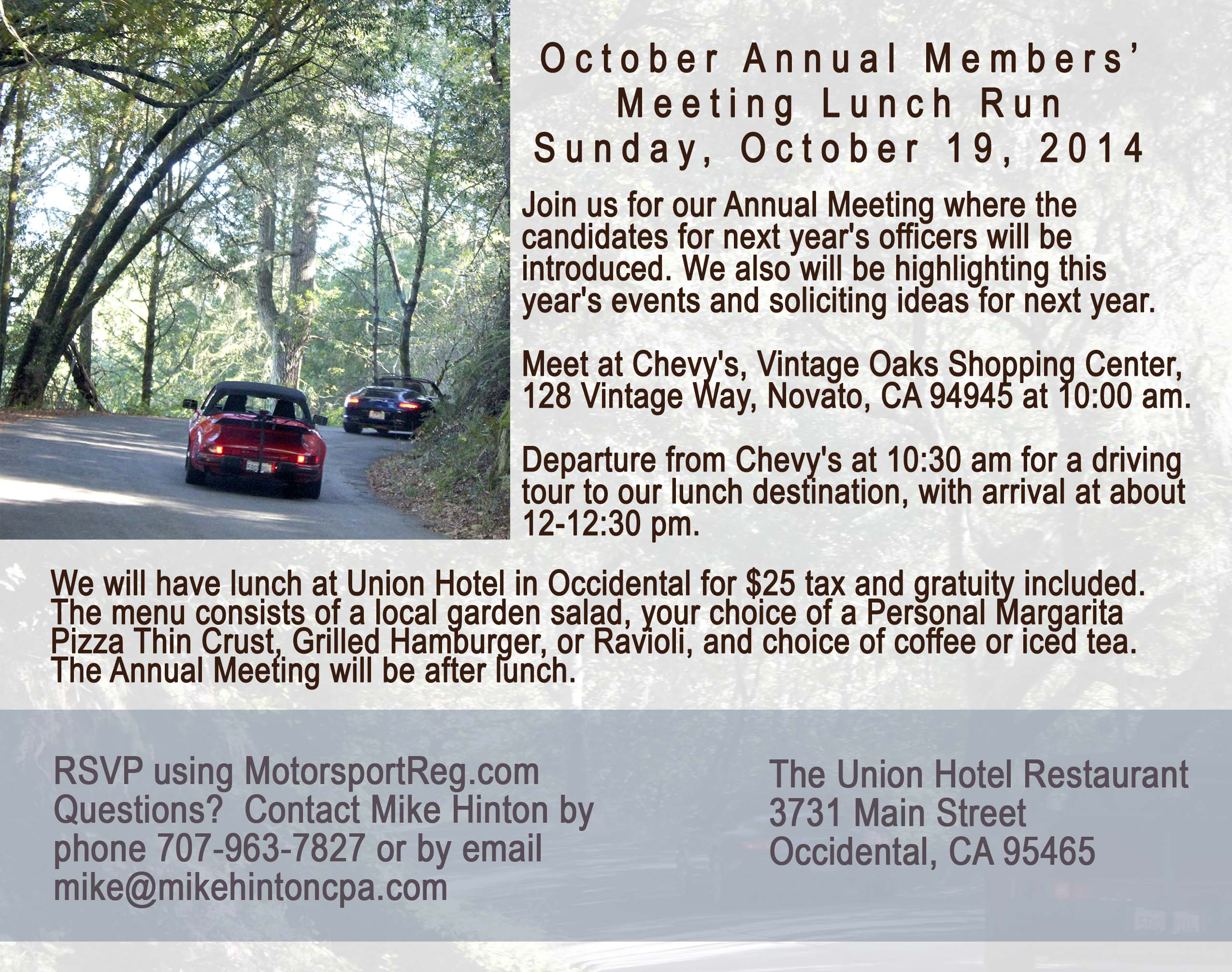 October Annual Meeting